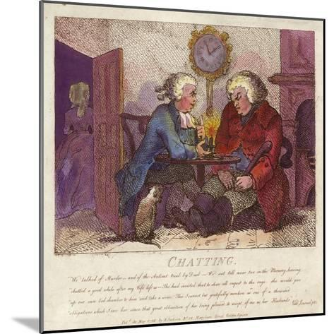 Chatting from Boswell's Hebridean Journey-Thomas Rowlandson-Mounted Giclee Print