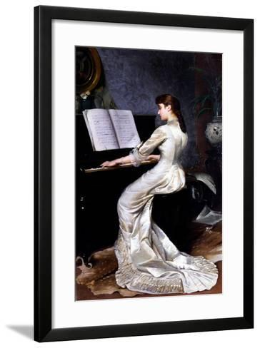 Song Without Words, Piano Player, 1880-George Hamilton Barrable-Framed Art Print
