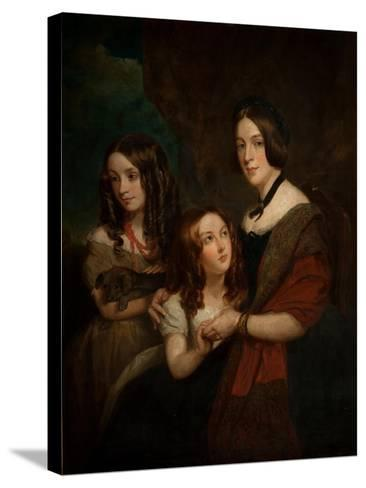 Lady Caroline Towneley with Two of Her Daughters, Caroline and Emily (Copy after Francis Grant),…-George Frederick Clarke-Stretched Canvas Print