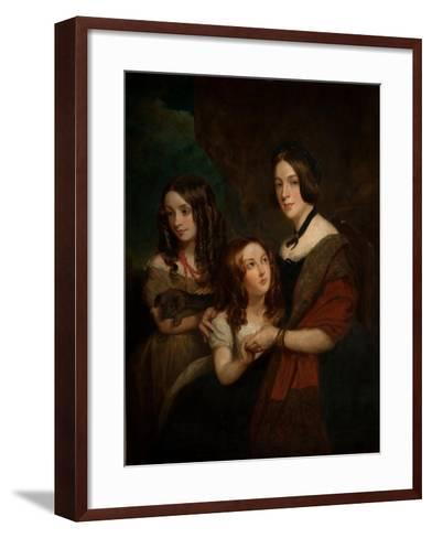 Lady Caroline Towneley with Two of Her Daughters, Caroline and Emily (Copy after Francis Grant),…-George Frederick Clarke-Framed Art Print