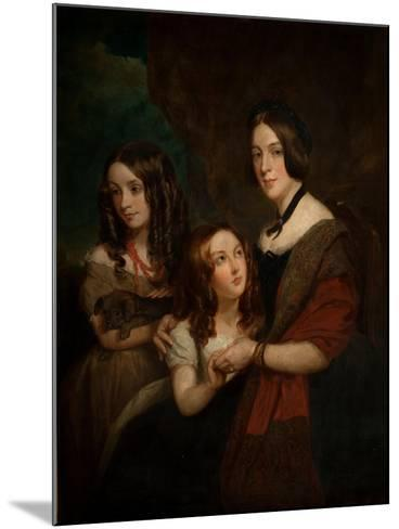 Lady Caroline Towneley with Two of Her Daughters, Caroline and Emily (Copy after Francis Grant),…-George Frederick Clarke-Mounted Giclee Print
