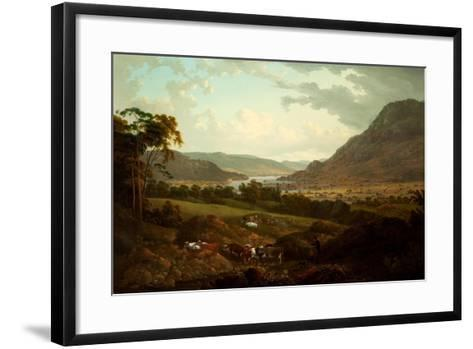 A Scene in the Lake District-Julius Caesar Ibbetson-Framed Art Print