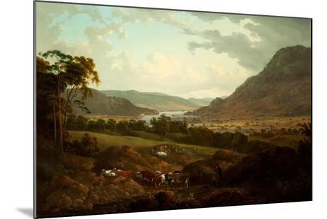 A Scene in the Lake District-Julius Caesar Ibbetson-Mounted Giclee Print