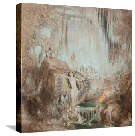 The Nymph of Malham Cove-William Shackleton-Stretched Canvas Print
