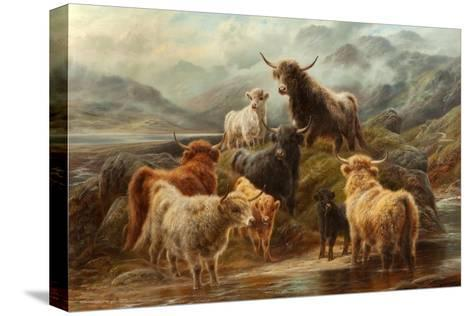 Highland Cattle, 1894-Robert Watson-Stretched Canvas Print