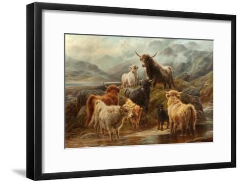 Highland Cattle, 1894-Robert Watson-Framed Art Print