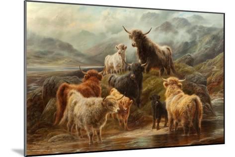 Highland Cattle, 1894-Robert Watson-Mounted Giclee Print