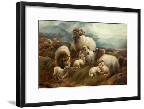 Sheep in a Landscape, 1894-Robert Watson-Framed Art Print