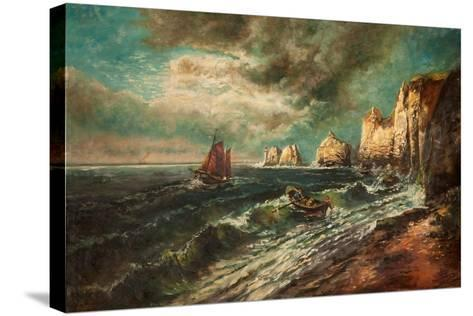 The Needles, Isle of Wight-Thomas Grimshaw-Stretched Canvas Print