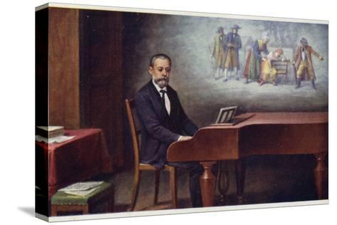 Portrait of Bedrich Smetana--Stretched Canvas Print