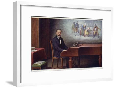 Portrait of Bedrich Smetana--Framed Art Print