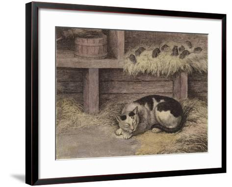 Cat and Mice in a Barn--Framed Art Print