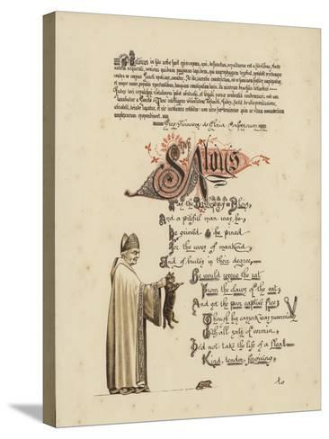 Illustrated Poem About a Saint and a Bishop Who Would Set a Rat Free from the Jaws of the Cat--Stretched Canvas Print