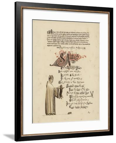 Illustrated Poem About a Saint and a Bishop Who Would Set a Rat Free from the Jaws of the Cat--Framed Art Print