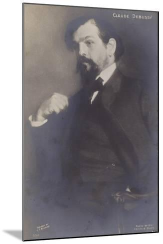 Claude Debussy, French Composer (1862-1918)-Jacques-emile Blanche-Mounted Photographic Print