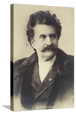 Portrait of Johann Strauss II--Stretched Canvas Print