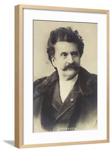 Portrait of Johann Strauss II--Framed Art Print
