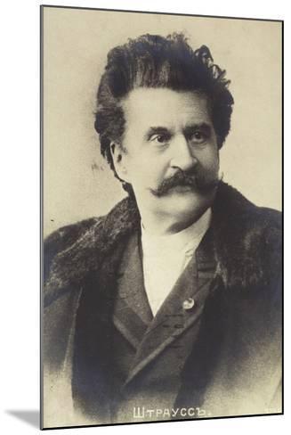 Portrait of Johann Strauss II--Mounted Photographic Print