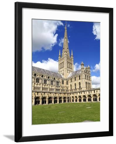 Norwich Cathedral Spire , Nave, Transept and Cloisters--Framed Art Print