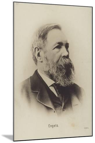 Friedrich Engels (1820-1895), German Political Theorist, Social Scientist and Writer--Mounted Photographic Print