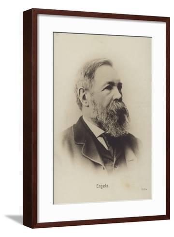 Friedrich Engels (1820-1895), German Political Theorist, Social Scientist and Writer--Framed Art Print