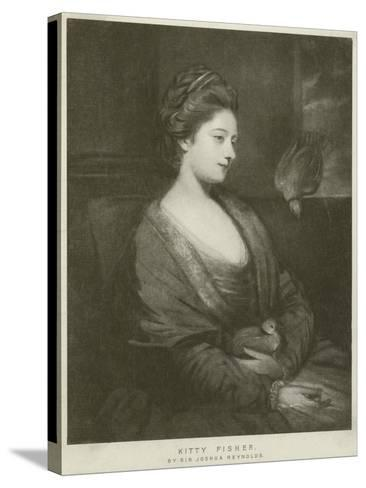 Portrait of Kitty Fisher-Sir Joshua Reynolds-Stretched Canvas Print