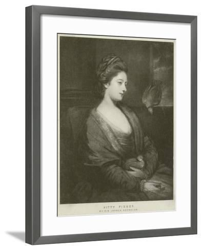 Portrait of Kitty Fisher-Sir Joshua Reynolds-Framed Art Print