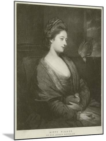 Portrait of Kitty Fisher-Sir Joshua Reynolds-Mounted Giclee Print