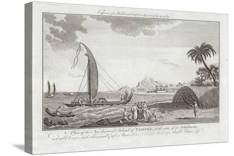 A View of the New Discovered Island of Ulieta with Some of the Inhabitants-Sydney Parkinson-Stretched Canvas Print