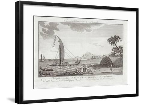 A View of the New Discovered Island of Ulieta with Some of the Inhabitants-Sydney Parkinson-Framed Art Print