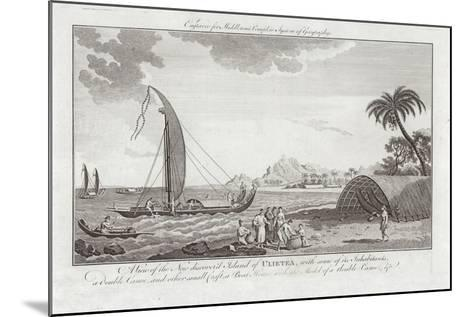 A View of the New Discovered Island of Ulieta with Some of the Inhabitants-Sydney Parkinson-Mounted Giclee Print