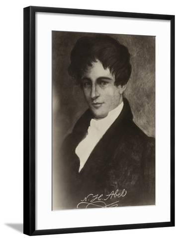 Niels Henrik Abel (1801-1829), Norwegian Mathematician--Framed Art Print