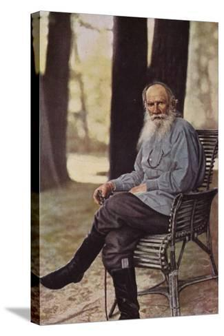 Leo Tolstoy (1828-1910), Russian Novelist, Short Story Writer and Playwright--Stretched Canvas Print