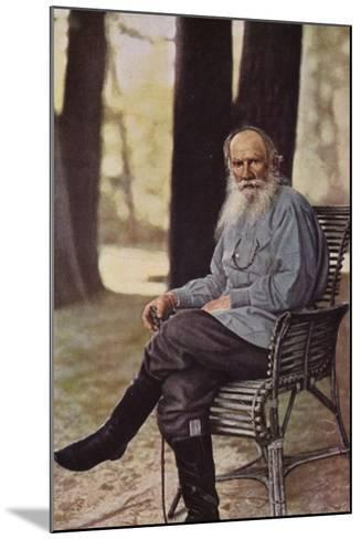 Leo Tolstoy (1828-1910), Russian Novelist, Short Story Writer and Playwright--Mounted Photographic Print