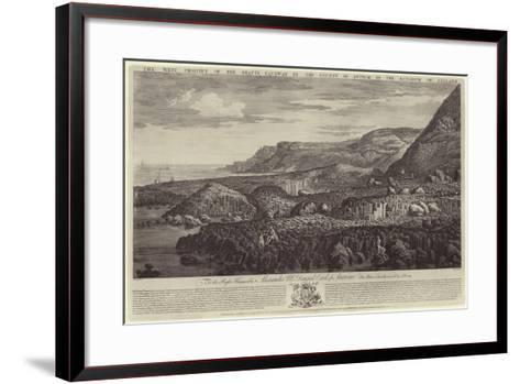 The West Prospect of the Giant's Causeway in the County of Antrim in the Kingdom of Ireland-John Drury-Framed Art Print