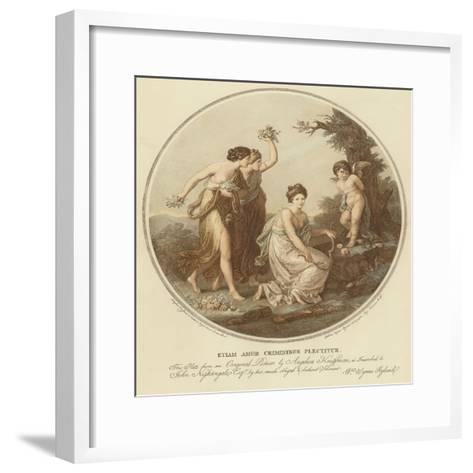 Two Nymphs Mock Cupid Who Is Tied to a Tree-Angelica Kauffmann-Framed Art Print