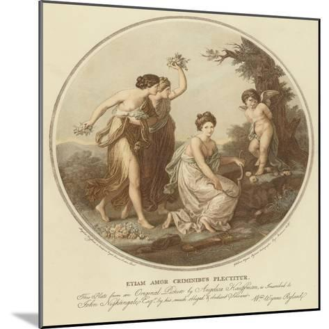 Two Nymphs Mock Cupid Who Is Tied to a Tree-Angelica Kauffmann-Mounted Giclee Print