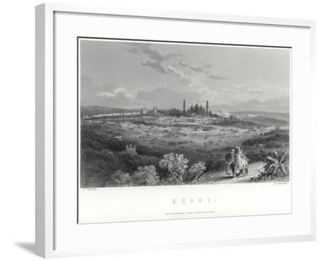 Delhi in India-J Ramage-Framed Art Print