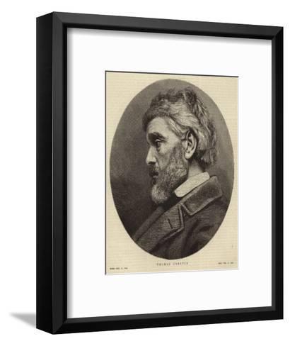 Portrait of Thomas Carlyle--Framed Art Print