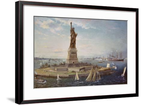 Liberty Island, New York Harbor, 1883-Fred Pansing-Framed Art Print
