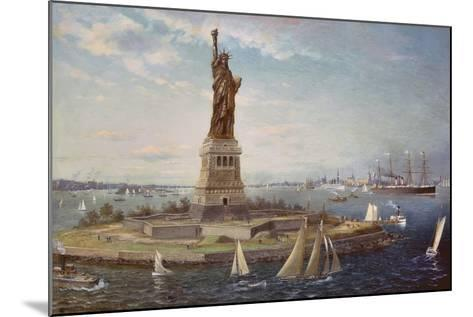 Liberty Island, New York Harbor, 1883-Fred Pansing-Mounted Giclee Print