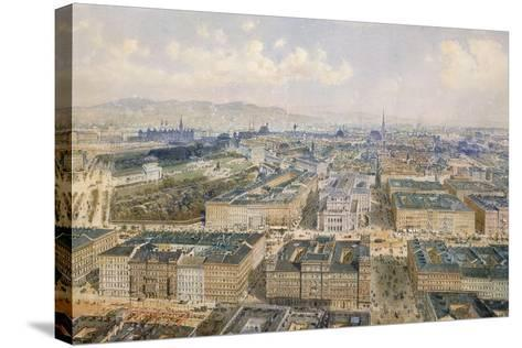 Panorama of Vienna, 1871-Rudolph von Alt-Stretched Canvas Print