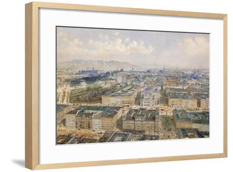 Panorama of Vienna, 1871-Rudolph von Alt-Framed Art Print