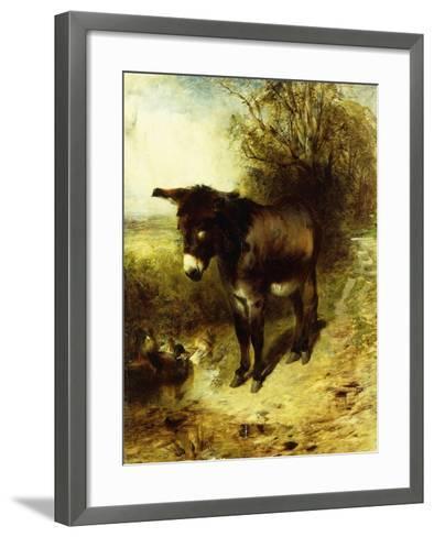 A Brown Study, 1853-William Huggins-Framed Art Print