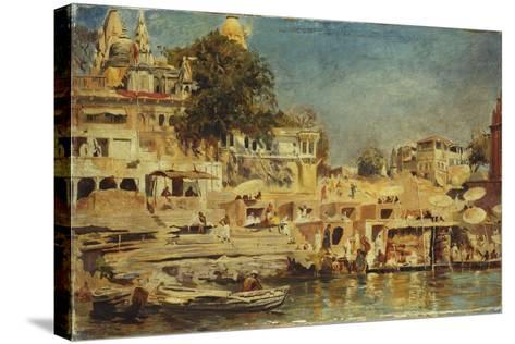 View of the Ghats at Benares, 1873-Edwin Lord Weeks-Stretched Canvas Print