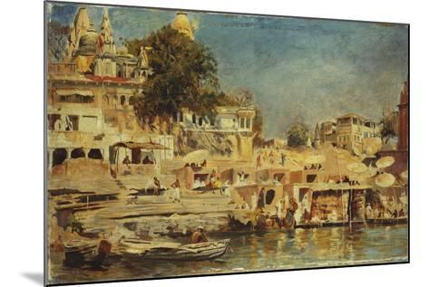 View of the Ghats at Benares, 1873-Edwin Lord Weeks-Mounted Giclee Print