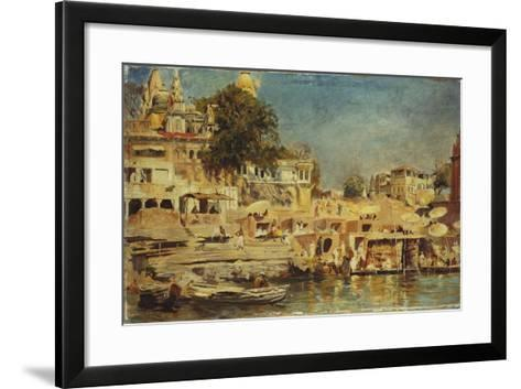 View of the Ghats at Benares, 1873-Edwin Lord Weeks-Framed Art Print