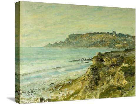 The Cliffs at Saint Adresse; La Falaise De Saint Adresse, 1873-Claude Monet-Stretched Canvas Print
