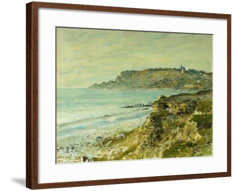 The Cliffs at Saint Adresse; La Falaise De Saint Adresse, 1873-Claude Monet-Framed Art Print