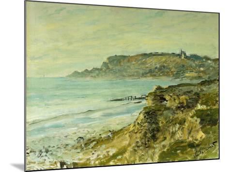 The Cliffs at Saint Adresse; La Falaise De Saint Adresse, 1873-Claude Monet-Mounted Giclee Print